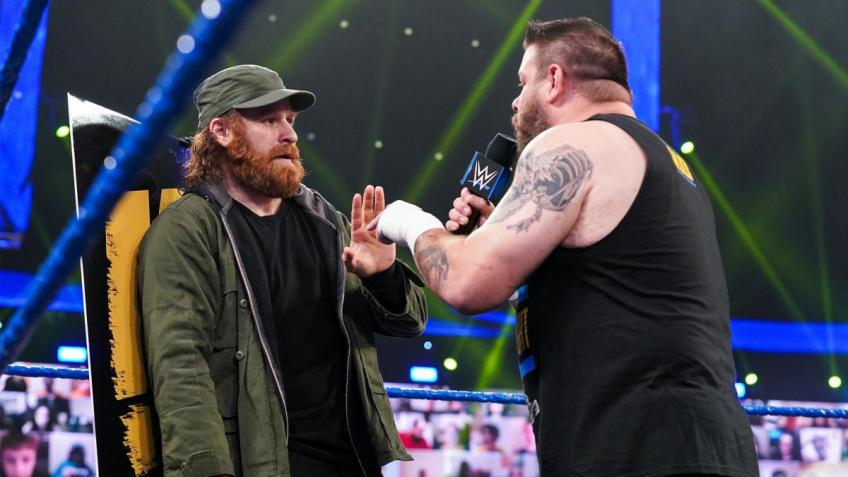 Adam Pearce on the feud between Kevin Owens and Sami Zayn