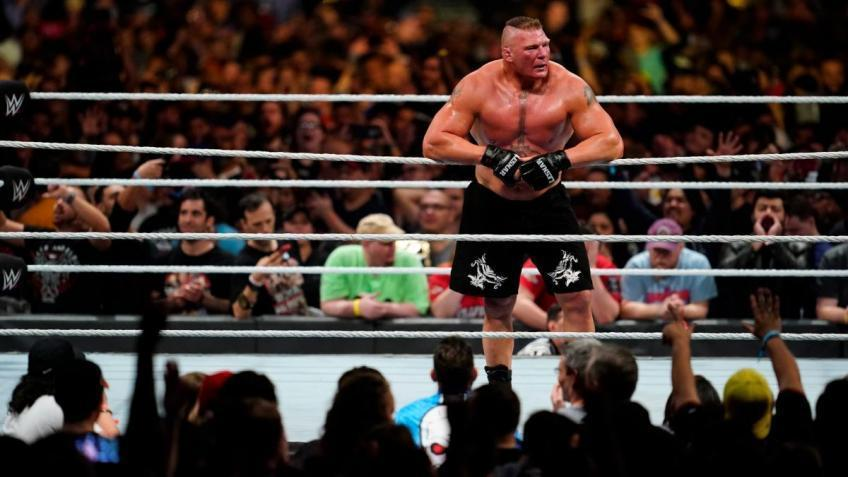 What is Brock Lesnar's record in WWE?