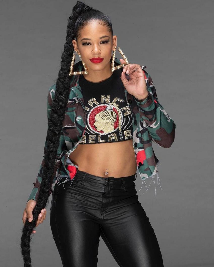 Bianca Belair on Royal Rumble Entrance