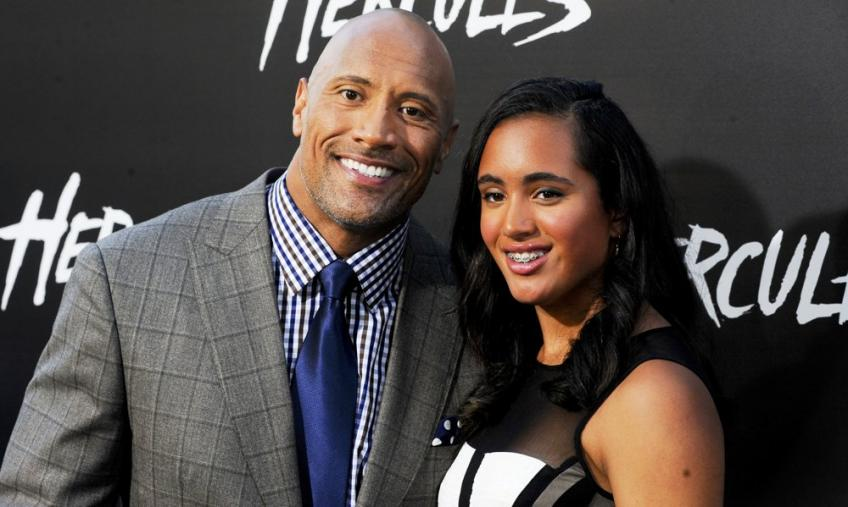 The Rock discusses his daughter signing with WWE