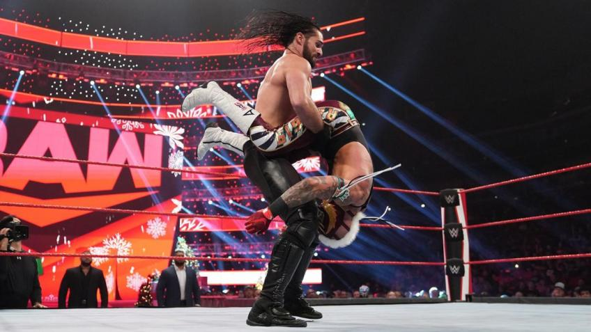 Seth Rollins talks vomiting after his match with Rey Mysterio
