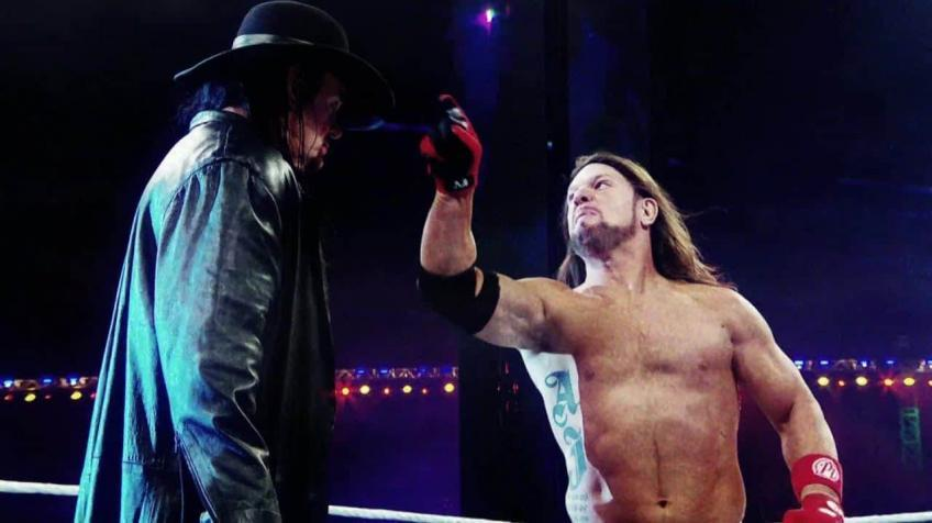 AJ Styles challenges The Undertaker