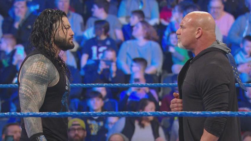 Bill Goldberg takes the argument back to Roman Reigns
