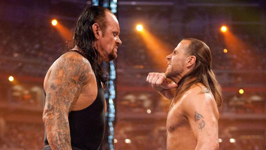 The Undertaker on Shawn Michaels at WrestleMania 14