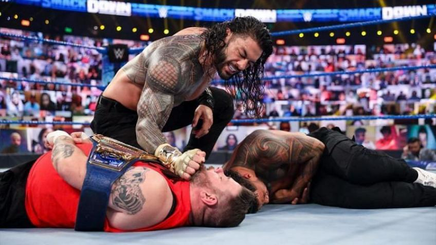 *Spoiler* Kevin Owens takes a huge fall on WWE SmackDown