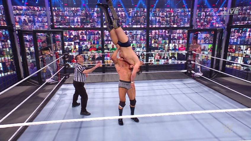 Cesaro reacts to his performance at WWE Elimination Chamber