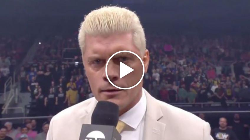 Cody Rhodes Talks about AEW's Video Game