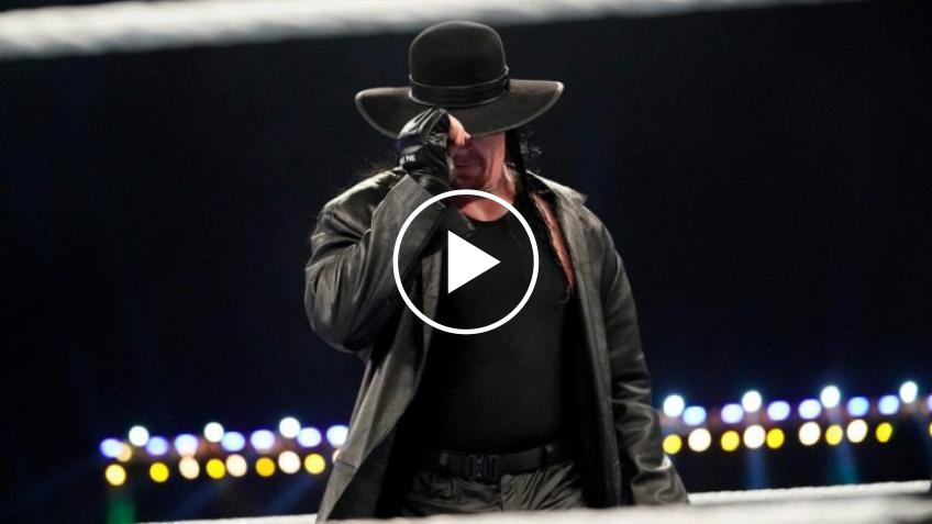 Former WWE star dressed as The Undertaker for a WrestleMania video package